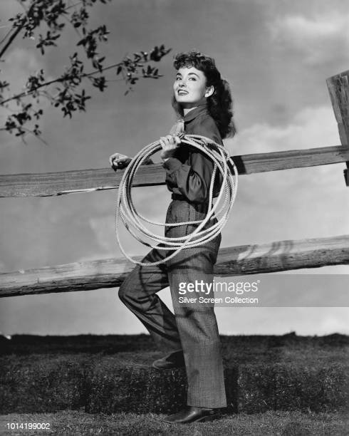 American actress Ann Blyth as Lucy Bostel in the western film 'Red Canyon' 1949
