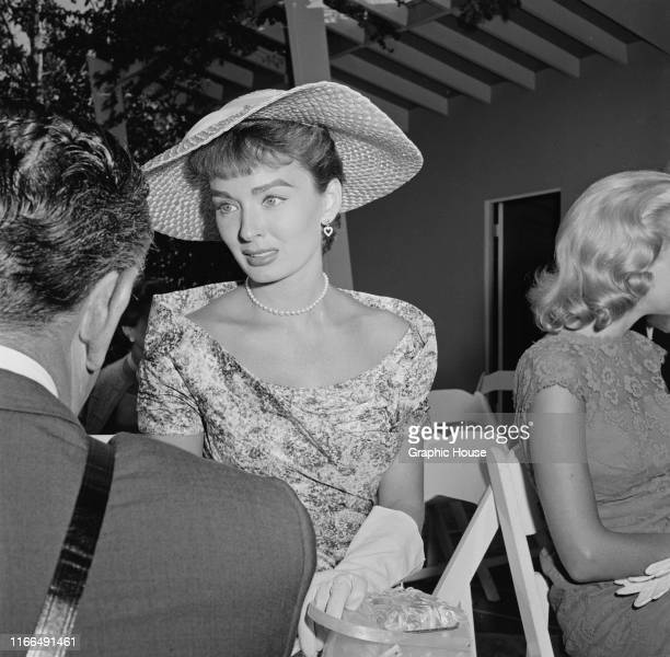 American actress Ann Blyth at a birthday party for movie columnist Louella Parsons USA circa 1955