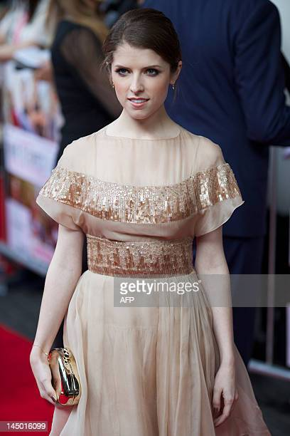 American actress Anna Kendrick arrives for the European premiere of the film 'What To Expect When You're Expecting' at the IMAX Cinema in Waterloo in...
