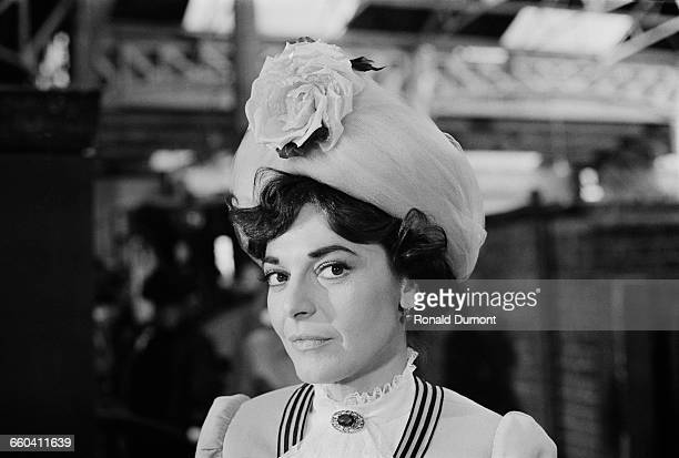 American actress Anne Bancroft in costume for the film 'Young Winston' 5th August 1971 She is playing Winston Churchill's mother Lady Jennie Churchill