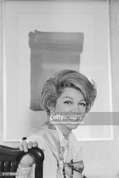 American actress Anne Baxter in London on 24th June 1977