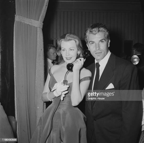 American actress Arlene Dahl with her husband Argentineborn actor Fernando Lamas circa 1955