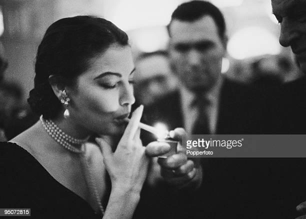 American actress Ava Gardner , 1955.