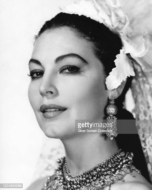 American actress Ava Gardner as Victoria Jones in a publicity still for the film 'Bhowani Junction' 1956