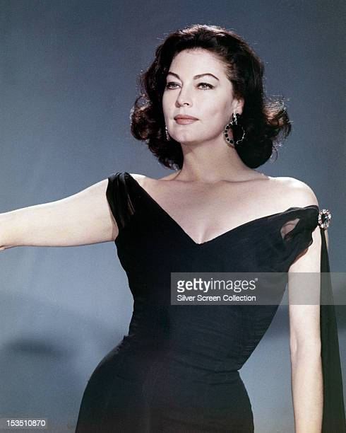 American actress Ava Gardner in a black offtheshoulder dress circa 1955 Photo by Silver Screen Collection/Getty Image