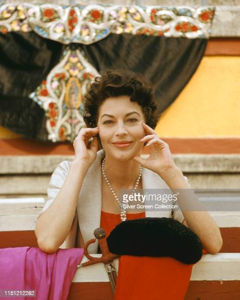 American actress Ava Gardner on the set of the film 'The Sun Also Rises' based on the novel by Ernest Hemingway 1957 She plays Lady Brett Ashley in...
