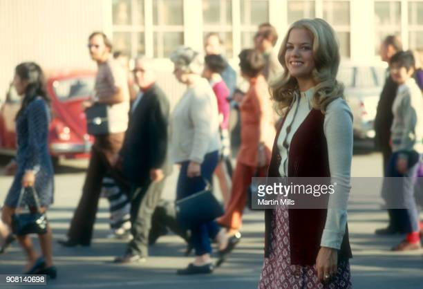 American actress Barbara Sigel poses for a portrait on the Universal Studios lot circa November 1970 in Universal City California