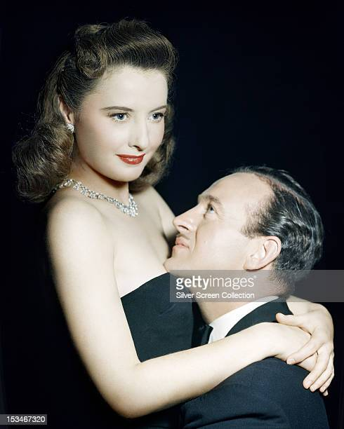 American actress Barbara Stanwyck as Karen Duncan and English actor David Niven as Doctor Anthony Stanton in 'The Other Love' directed by King Vidor...