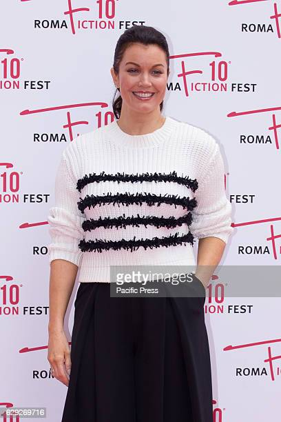 American actress Bellamy Young arrives on the red carpet for Shondaland during the 2016 Rome Fiction Fest.