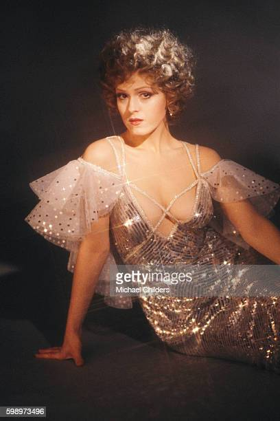 American actress Bernadette Peters on the set of Musical Pennies from Heaven by director and producer Herbert Ross