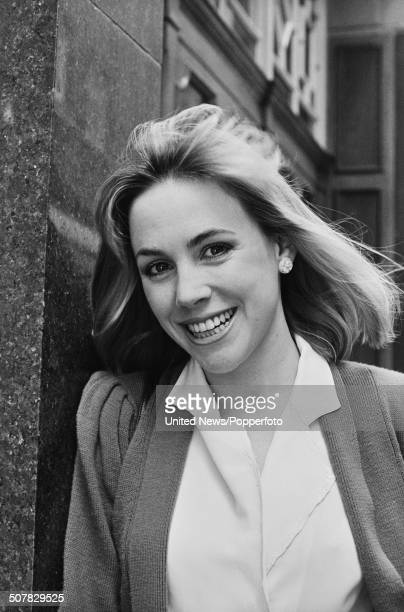 American actress Bess Armstrong in Soho London on 3rd April 1984
