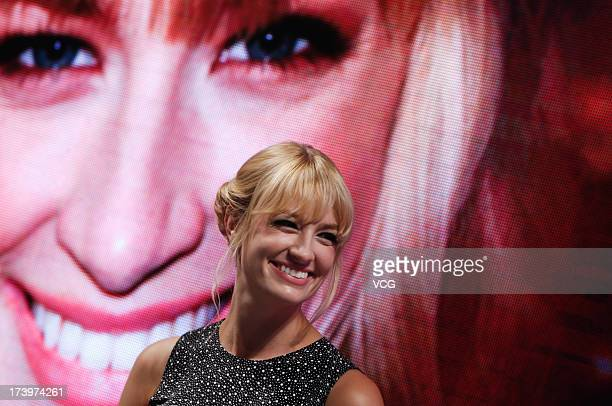 American actress Beth Behrs attends '2 Broke Girls' press conference on July 18 2013 in Shanghai China