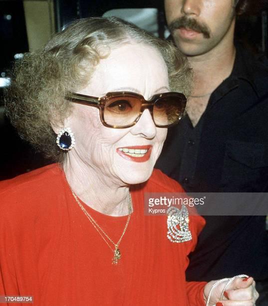 American actress Bette Davis circa 1985