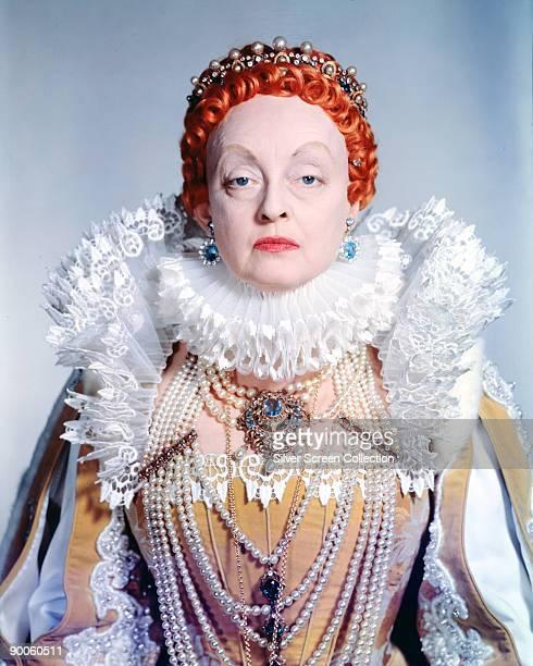 American actress Bette Davis stars as Queen Elizabeth I of England in 'The Virgin Queen' 1955