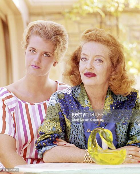 American actress Bette Davis with her daughter Barbara Davis Sherry , circa 1965.