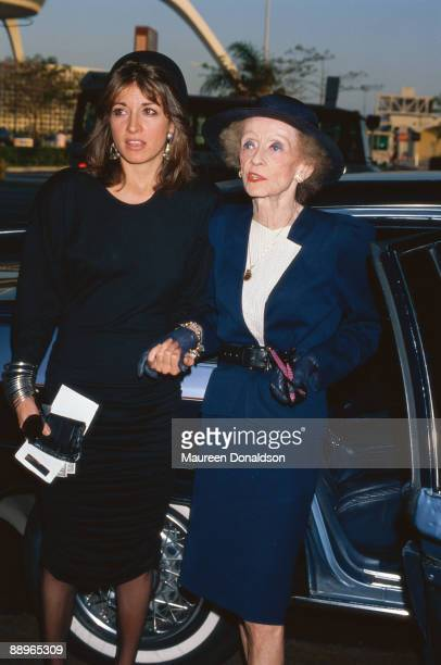 American actress Bette Davis with her personal assistant Kathryn Sermak circa 1988