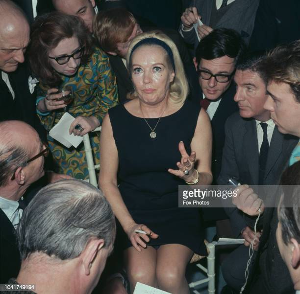 American actress Betty Grable at a press reception in London UK 27th February 1969