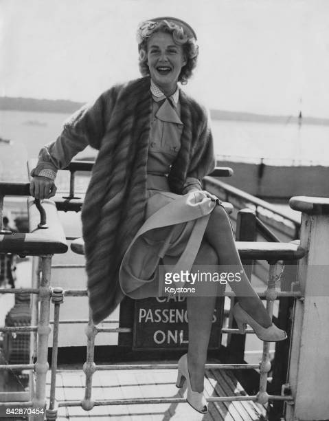 American actress Betty Hutton arrives at Southampton on board the 'Queen Mary' to star at the London Palladium 6th September 1948
