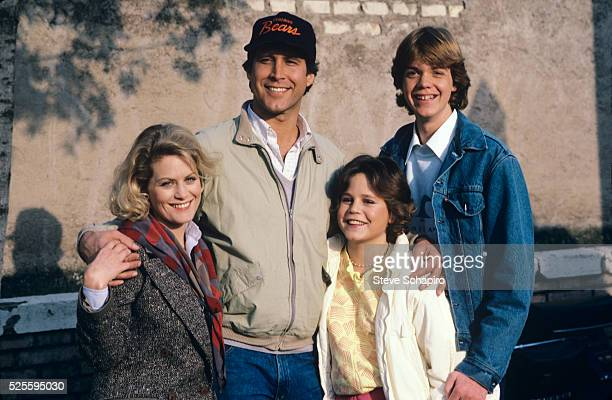 American actress Beverly D'Angelo as Ellen Griswold with American actor and comedian Chevy Chase as Clark W Griswold Dana Hill as Audrey Griswold and...