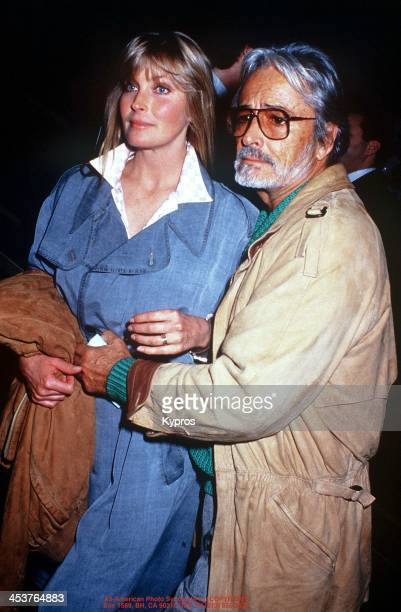 American actress Bo Derek with her husband actor and director John Derek circa 1983