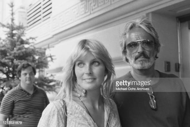 American actress Bo Derek with her husband, actor John Derek , USA, circa 1981.