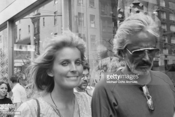 American actress Bo Derek with her husband actor John Derek USA circa 1981