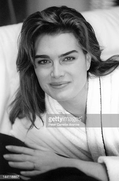 American actress Brooke Shields on the set of her new film 'The Seventh Floor' in 1993 in Sydney Australia