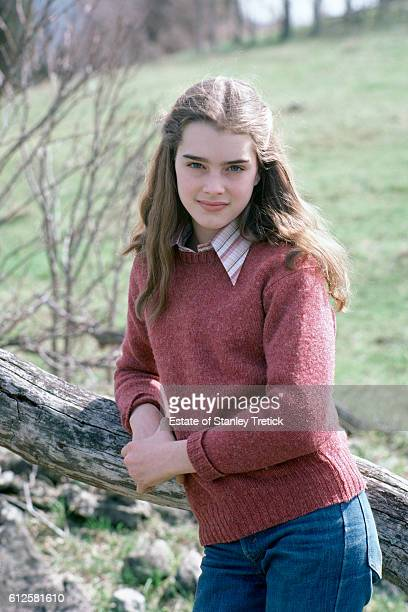 American actress Brooke Shields on the set of La Petite written and directed by French Louis Malle