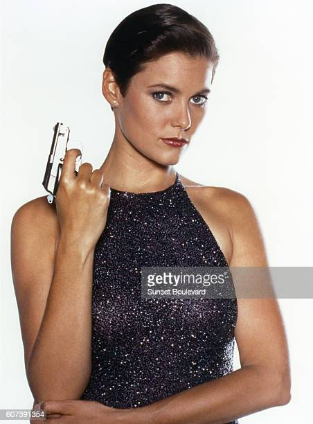 American actress Carey Lowell on the set of Licence to Kill directed by John Glen