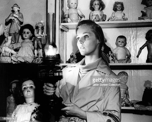 American actress Carol Lynley as Ann Lake in the 'doll hospital' scene from 'Bunny Lake Is Missing' directed by Otto Preminger 1965
