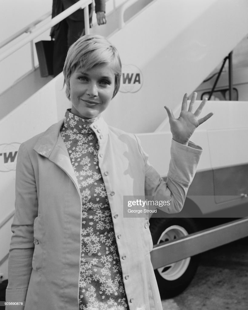 American actress Carol Lynley at Heathrow Airport, London, UK, 17th June 1968.