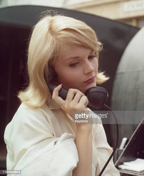 American actress Carol Lynley on the telephone, circa 1965.
