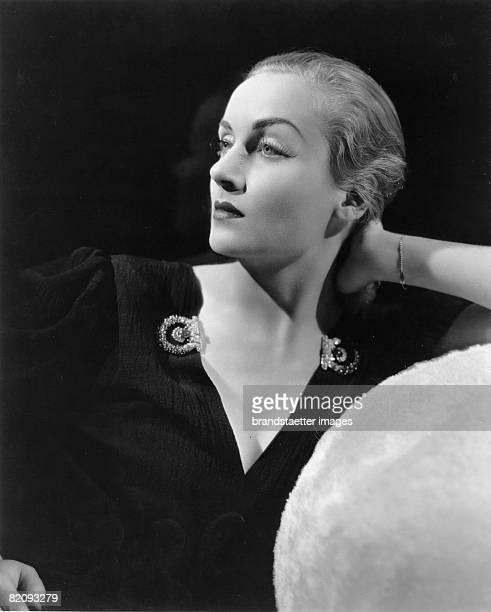 American actress Carole Lombard, Photograph, Around 1935 [Die US-amerikanische Schauspielerin Carole Lombard, Photographie, Um 1935]