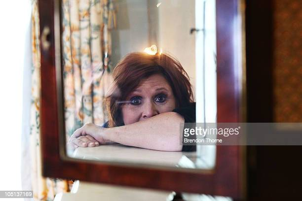 American Actress Carrie Fisher poses for a portrait during her 'Wishful Drinking' tour at the Sydney Observatory Hotel on October 11 2010 in Sydney...