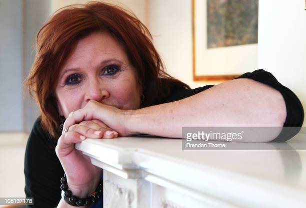 American Actress Carrie Fisher poses for a portrait during her Wishful Drinking tour at the Sydney Observatory Hotel on October 11 2010 in Sydney...