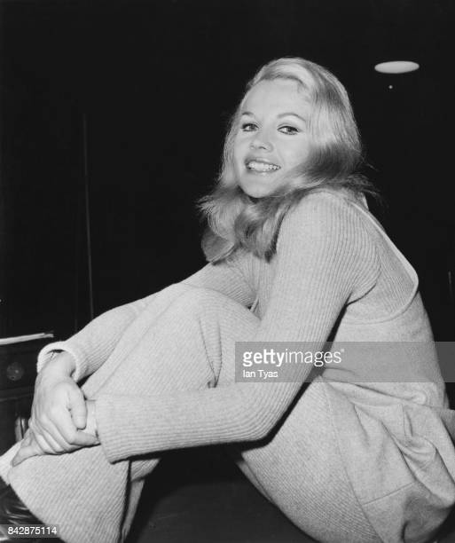American actress Carroll Baker in London to star in the BBC television adaptation of W Somerset Maugham's short story 'Rain' 14th January 1970