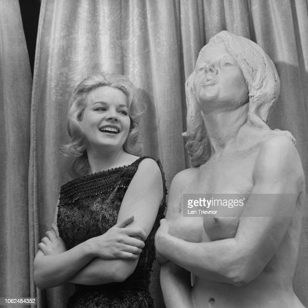 American actress Carroll Baker on the set of television series 'Armchair Theatre' episode 'The Paradise Suite' UK 7th February 1963