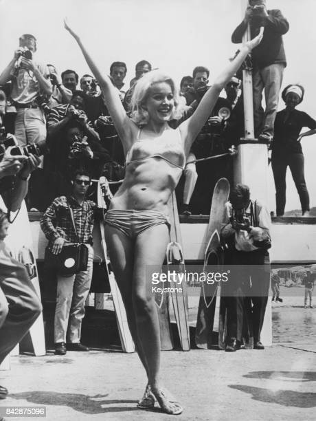 American actress Carroll Baker poses for photographers at the Cannes Film Festival France 29th May 1965