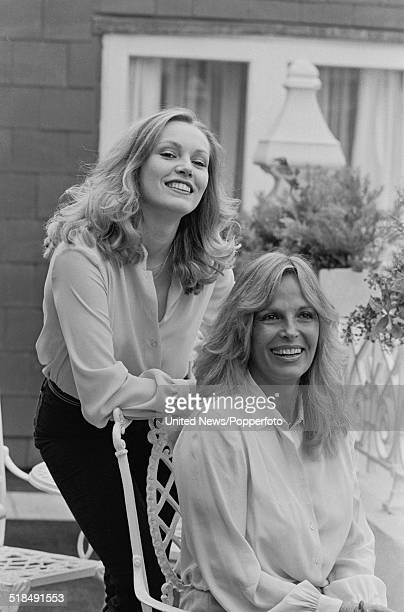 American actress Cathy Moriarty pictured with Vikki LaMotta exwife of boxer Jake LaMotta in London on 24th February 1981 Cathy Moriarty portrays...