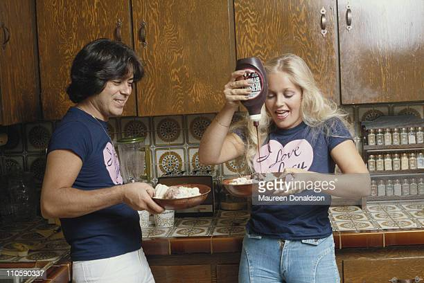 American actress Charlene Tilton with Jon Mercedes 1979 She starred in the long running soap opera 'Dallas' between 1978 and 1990