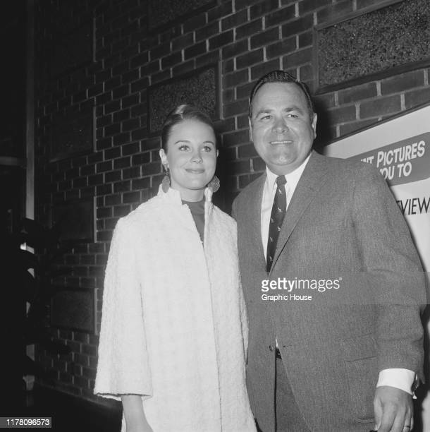 American actress Cheryl Miller and American comedian Jonathan Winters at a press preview of the Richard Quine film 'Oh Dad, Poor Dad, Mamma's Hung...