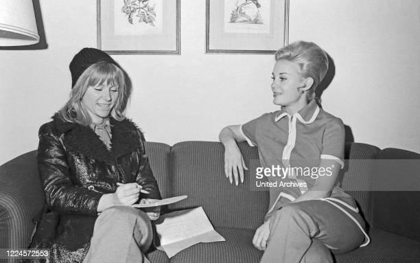 American actress Cheryl Miller visiting Hamburg, Germany circa 1968.