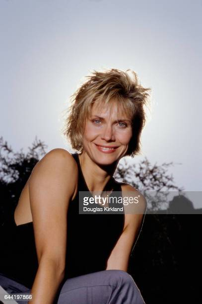 American actress Cindy Pickett smiles in the sunlight