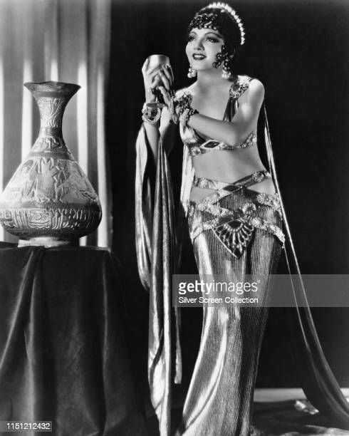 American actress Claudette Colbert as the titular Egyptian queen in the film 'Cleopatra' 1934