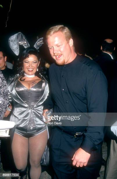 American actress comedian Roseanne Barr and boyfriend Ben Thomas arrive for 'The Hoppening' to benefit AIDS Project Los Angeles Playboy party at the...