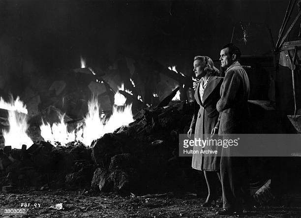 American actress Constance Cummings and Welsh actor Clifford Evans star in the Ealing Studios production 'The Foreman Went To France' directed by...