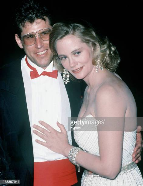 American actress Cybill Shepherd with her husband Bruce Oppenheim at the 14th Annual People's Choice Awards at 20th Century Fox Studios in Los...