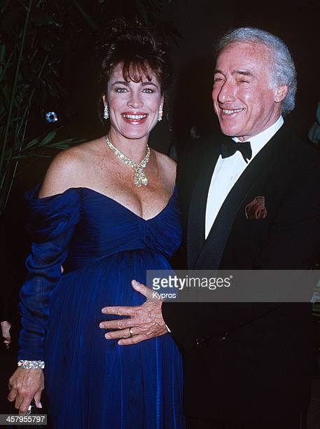 American actress Cynthia Sikes with her husband producer Bud Yorkin circa 1992 Sikes is heavily pregnant