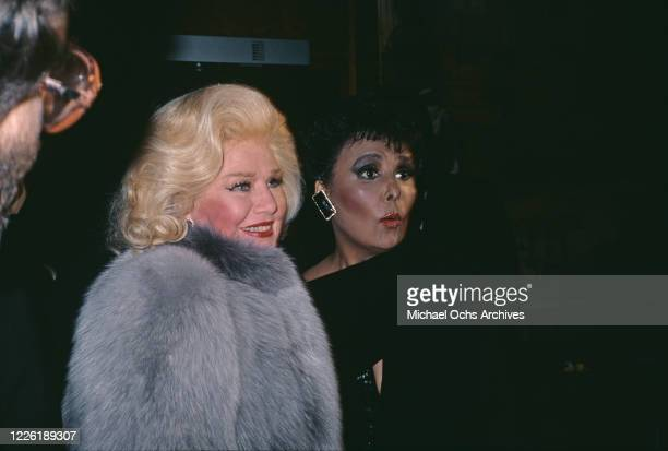 American actress, dancer and singer Ginger Rogers and American singer, actress and civil rights activist Lena Horne attend the 37th Annual Tony...