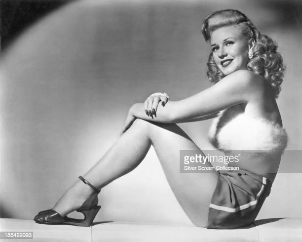 American actress dancer and singer Ginger Rogers in shorts a fur top and high heels as she appears in 'Heartbeat' directed by Sam Wood 1946